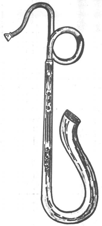 El serpentón militar fue desarrollado en Francia para facilitar la marcha durante la segunda mitad del s. XVIII