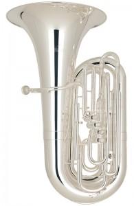 Tuba en Do modelo Miraphone New Yorker. Configuración: 4 pistones + 1 cilindro.
