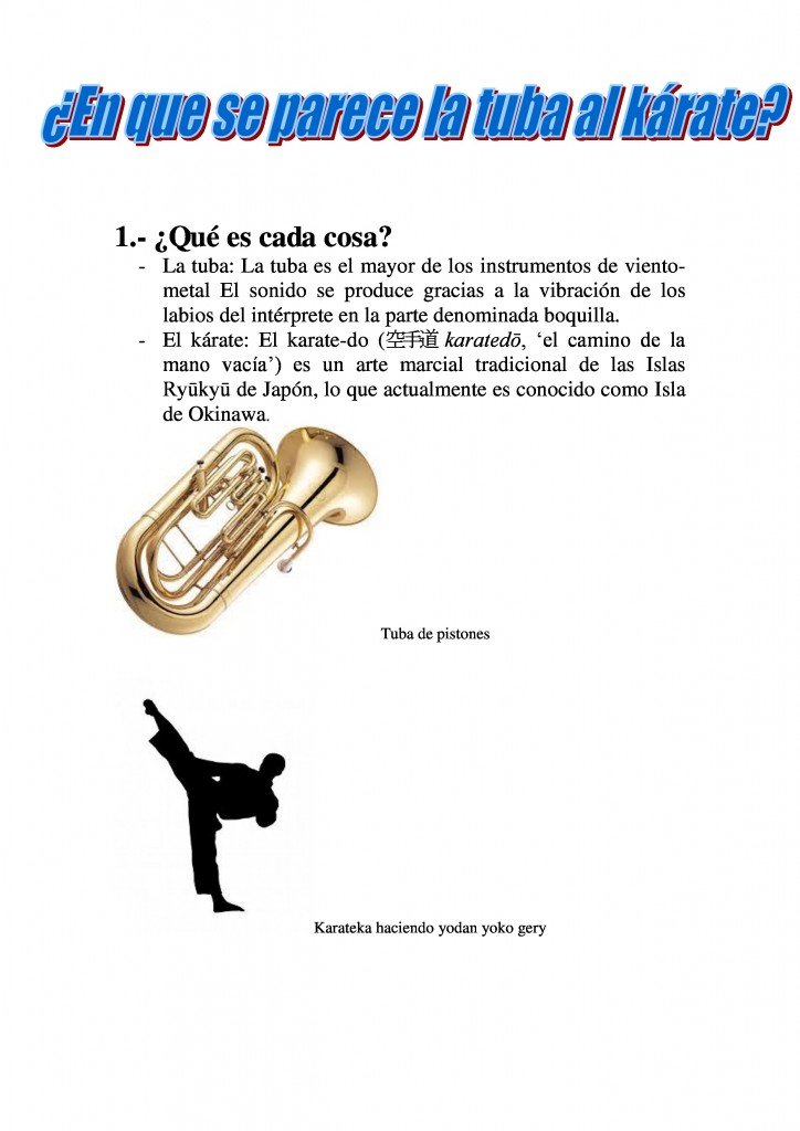 Tuba y Karate 1