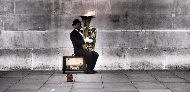 Tuba On Fire