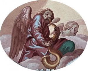 Angel con serpentón